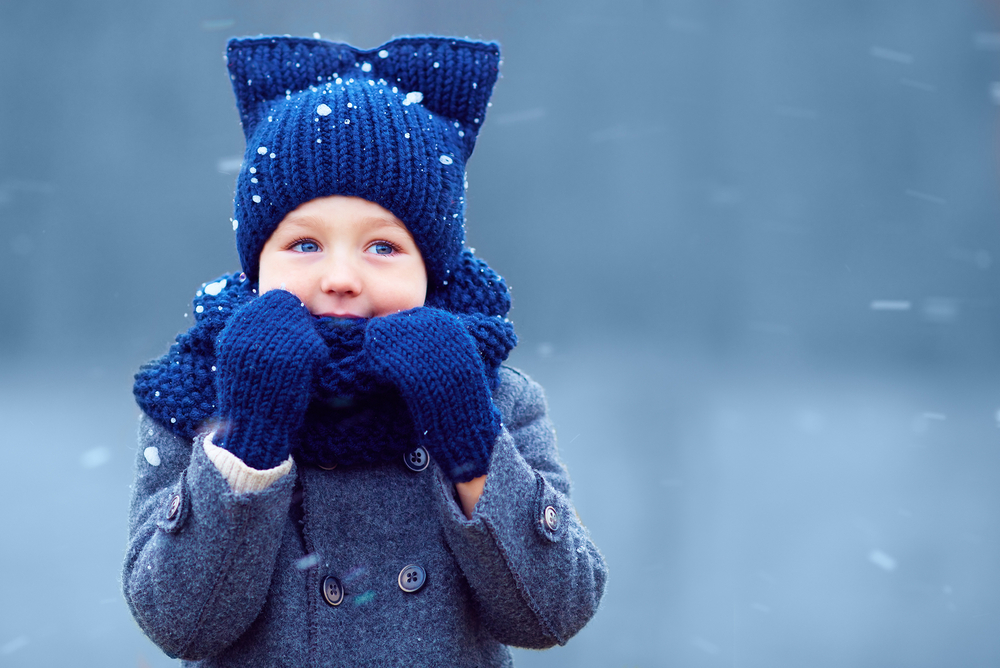Разходките в студеното време тонизират децата