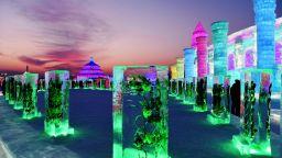 Смайващото ледено царство в Харбин