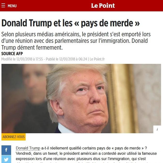 Вулгарен израз на Тръмп затрудни превода в медиите