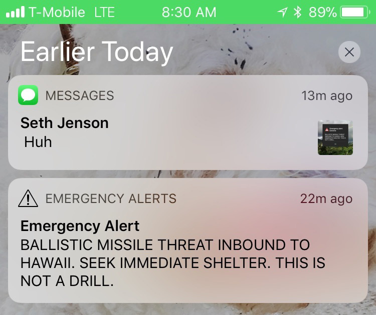 """Паника в Хавай заради натиснат """"погрешен бутон"""""""