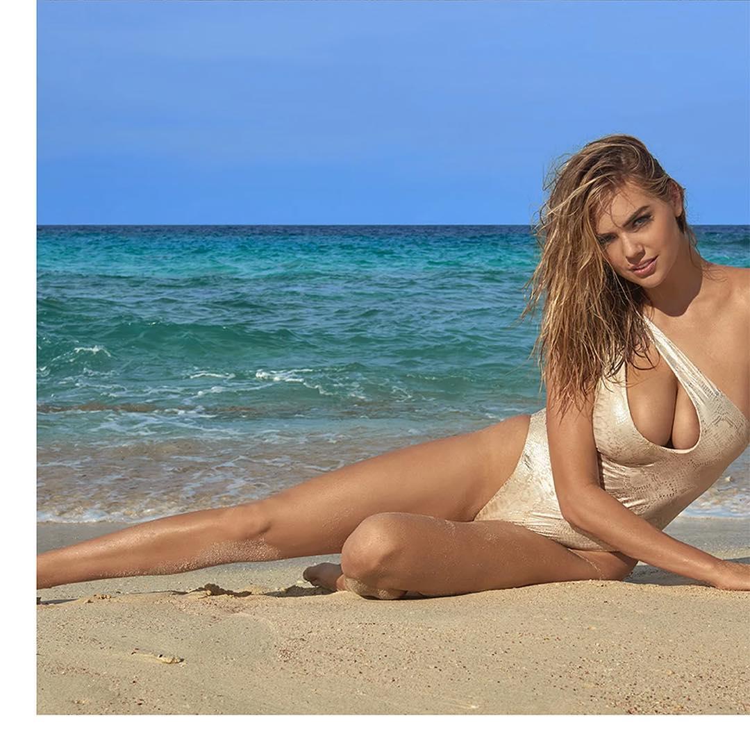 Кейт Ъптън падна от скала в морето на фотосесия