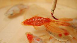 Потресаващите триизмерни златни рибки на Фукахори