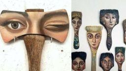 Поп-арт портрети върху стари вещи