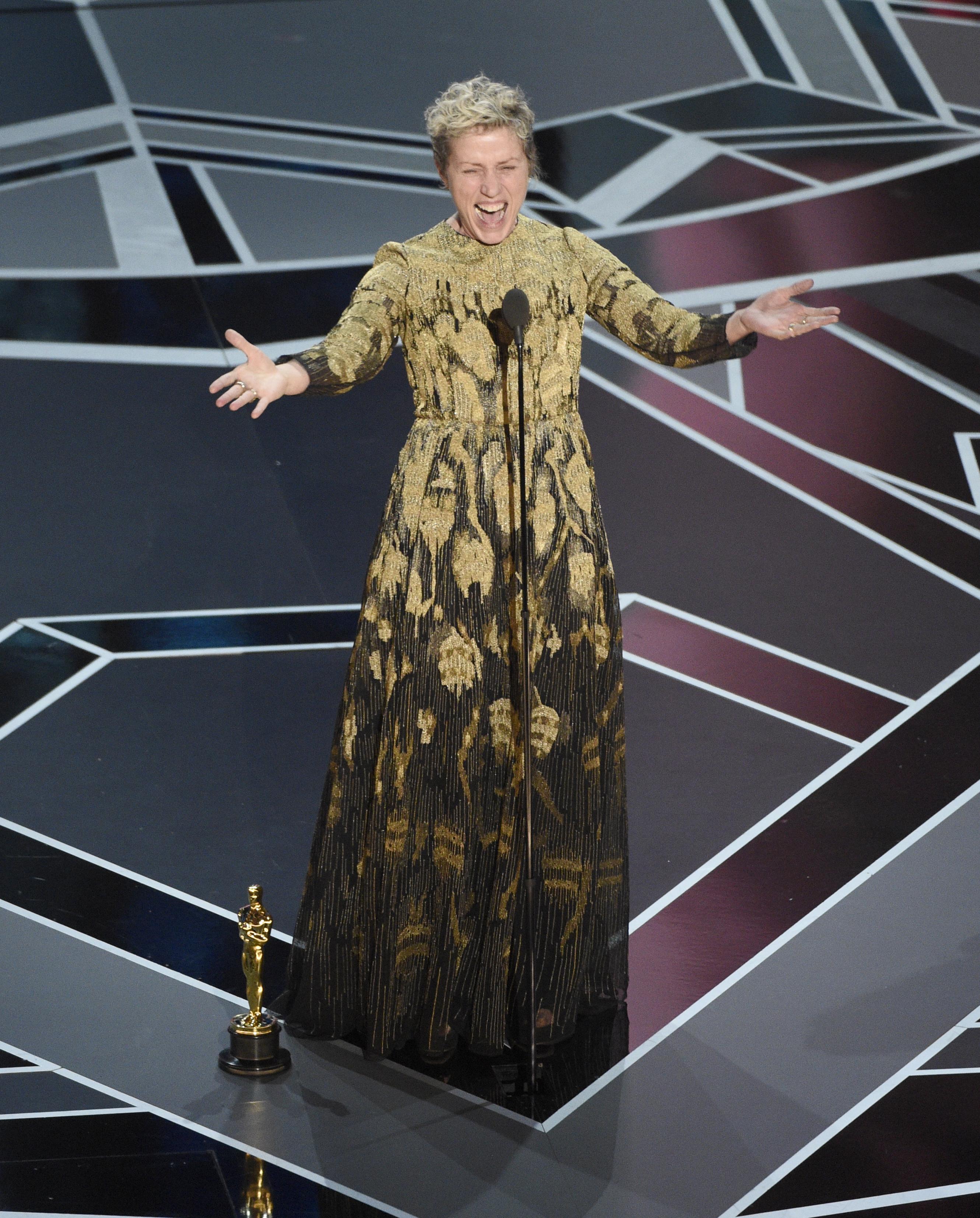 Задържаха мъж, откраднал Оскара на Макдорманд