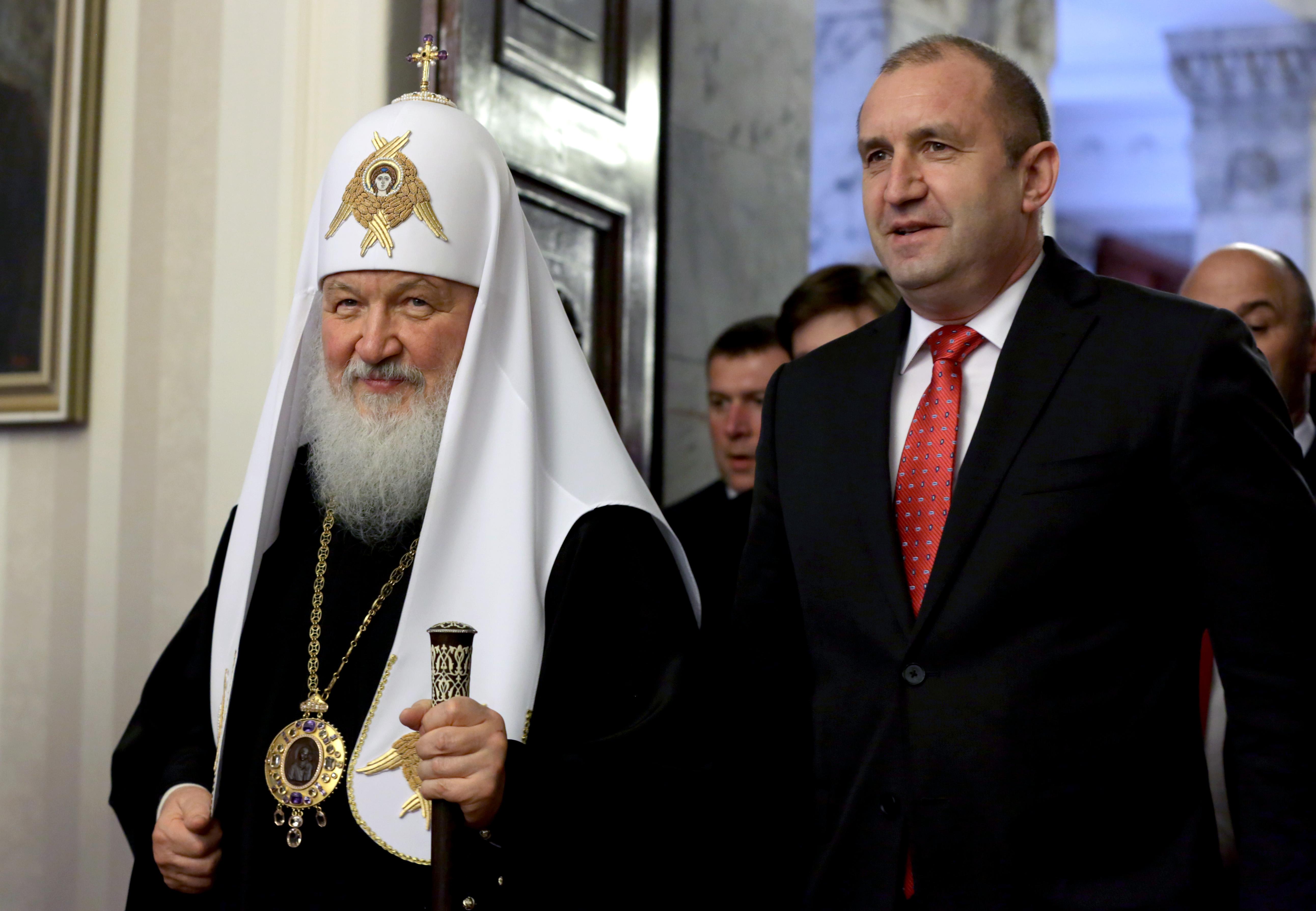 Няма стенограма от срещата на президента с руския патриарх