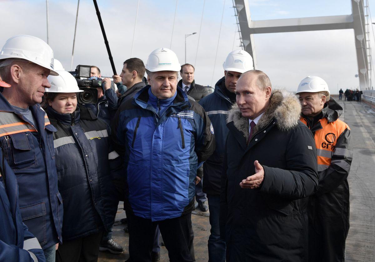 """Путин нарече Кримския мост """"най-дългият в Европа """""""