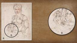 """Тайният автопортрет на Микеланджело е """"скрит в една от най-известните му рисунки"""""""