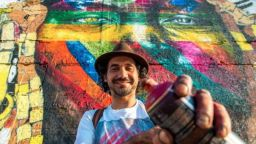 Бразилец е най-известният автор на мурали в света