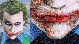 Художник рисува портрети на знаменитости с техните собствени мисли
