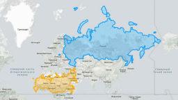 Вижте географски карти с истинските размери на страните в света