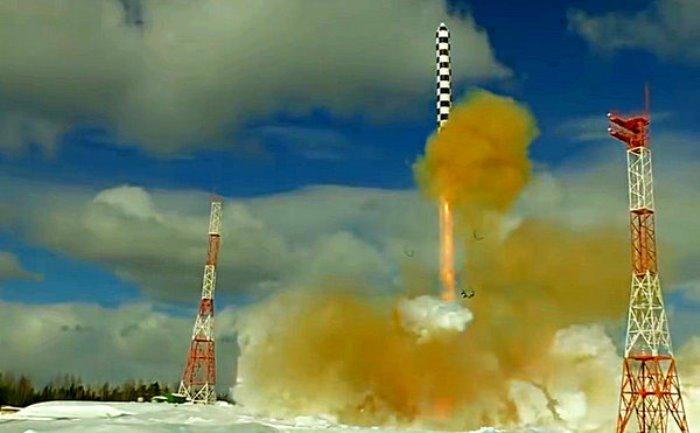 """Новият тест на ракетата """"Сармат"""" (видео)"""