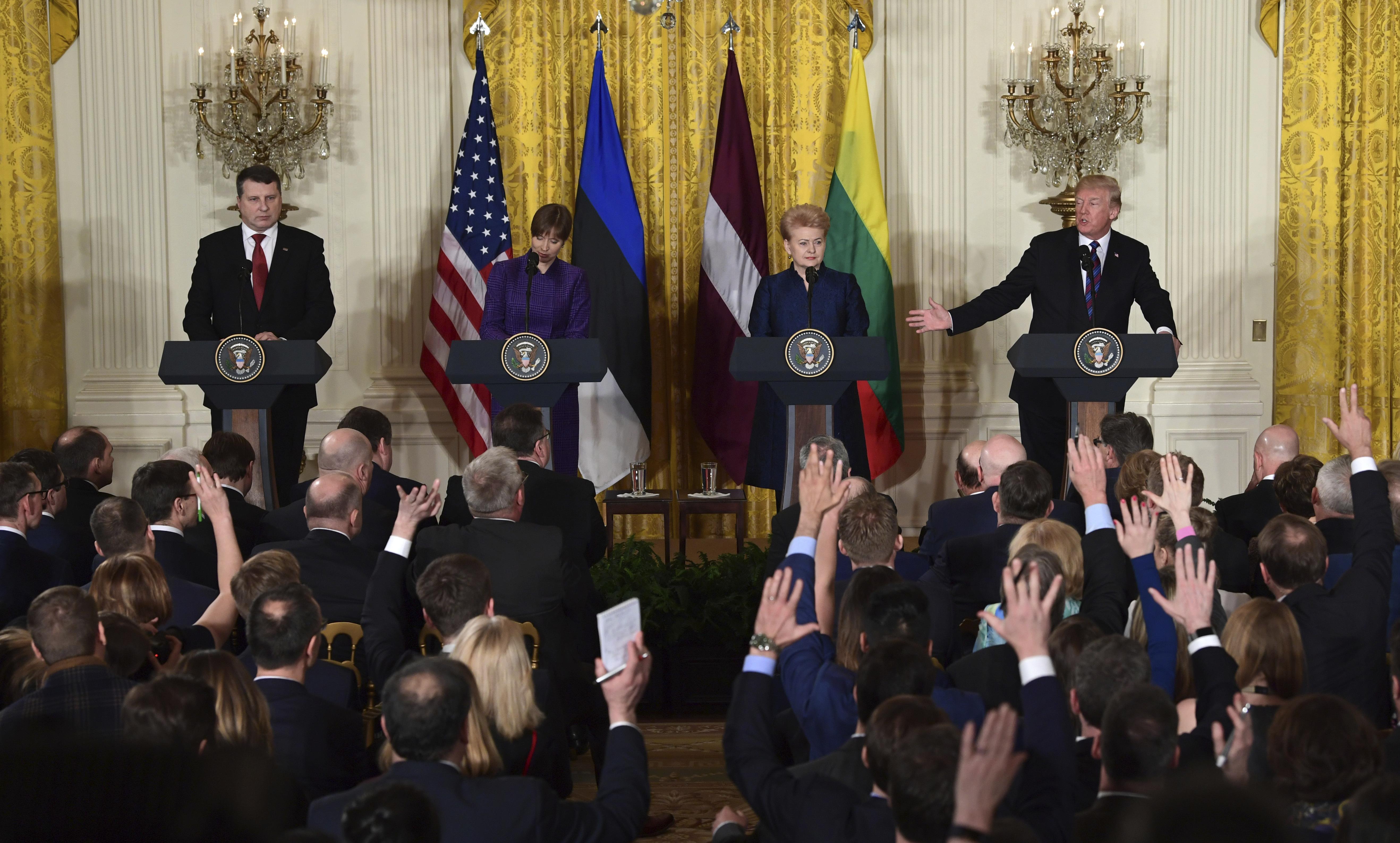 САЩ  е верен съюзник на Латвия, Литва и Естония