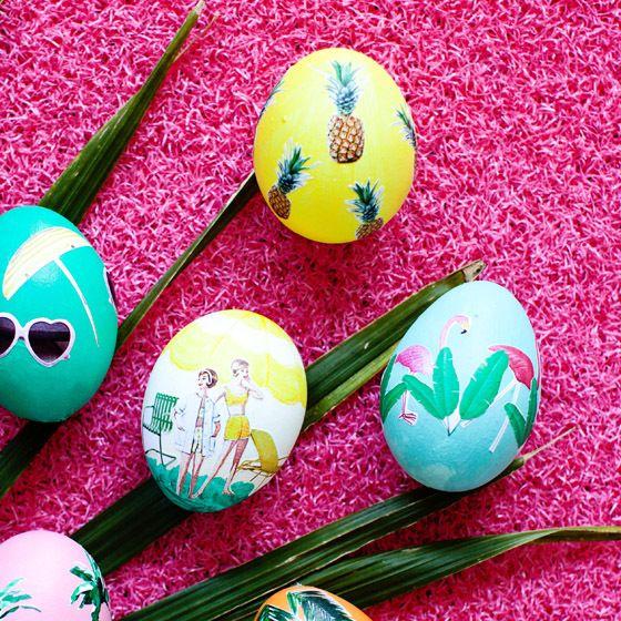 15 идеи за декупаж върху великденски яйца