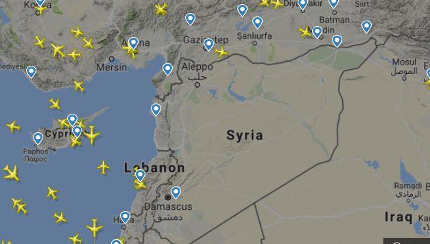Небето над Сирия опустя