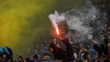 Задържаха бомбаджията, който рани полицаи на стадиона