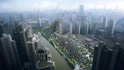 """""""Висящите градини на Семирамида"""" възкръсват в търговски център в Шанхай"""