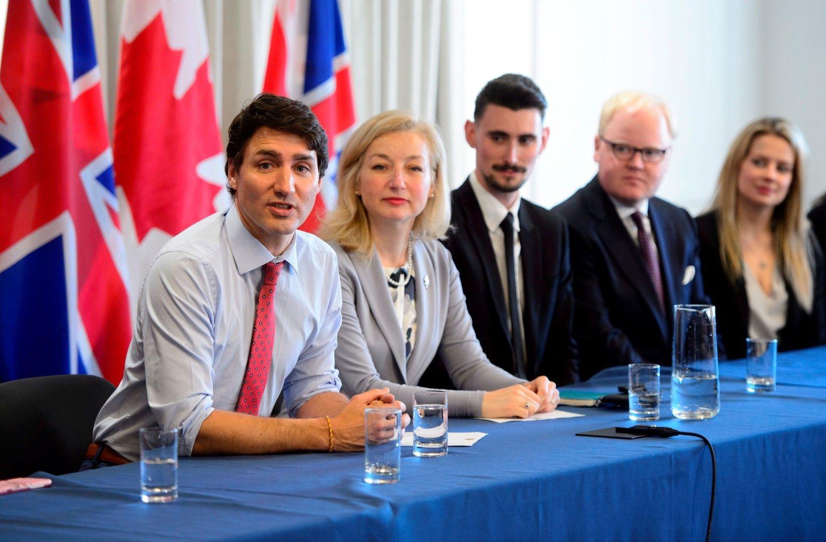 Канадският премиер Джъстин Трюдо е на визита в Лондон