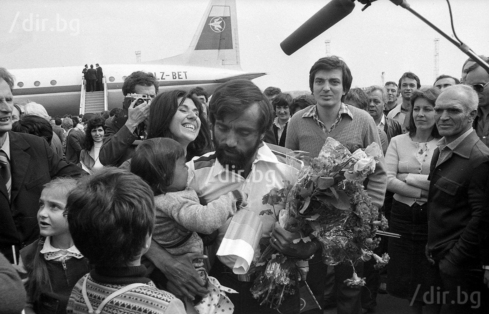 Христо Проданов при завръщането от покорения връх Лхотце. Снимка: Иван ГРИГОРОВ
