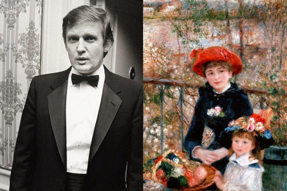 """Оригиналният Доналд Тръмп на събитие в Ню Йорк и """"Две сестри (на терасата)"""" на Реноар"""