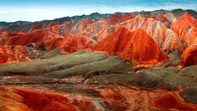 Цветните планини на Китай - уникално кътче от рая