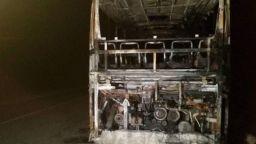 Автобус с 46 души изгоря на пътя за границата