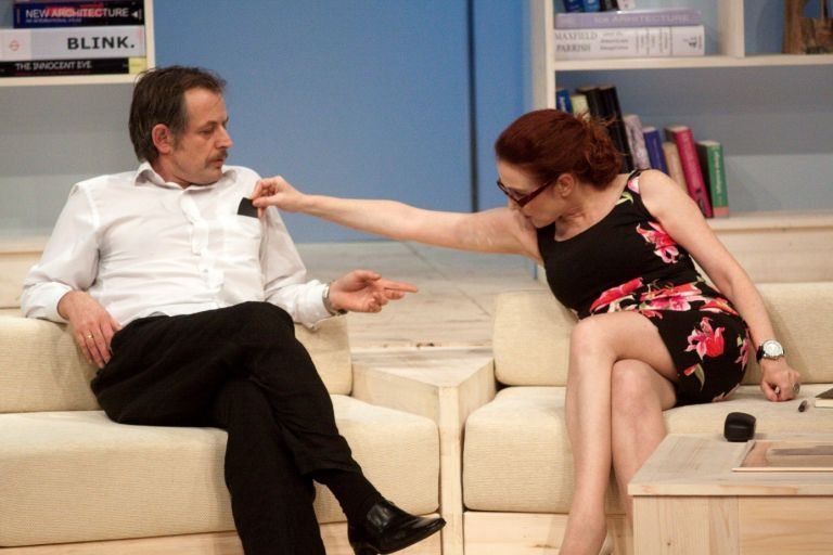 """Михаил Билалов в """"Козата или коя е Силвия"""" – постановката, с която през есента на 2009 г. се завръща отново на българска сцена."""