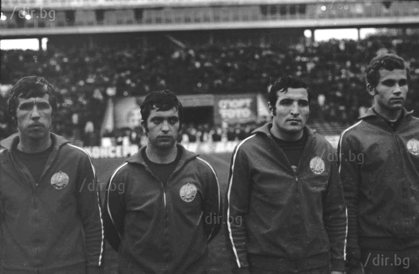 С Начко Михайлов и Димитър Пенев в националния отбор. Снимка Иван ГРИГОРОВ