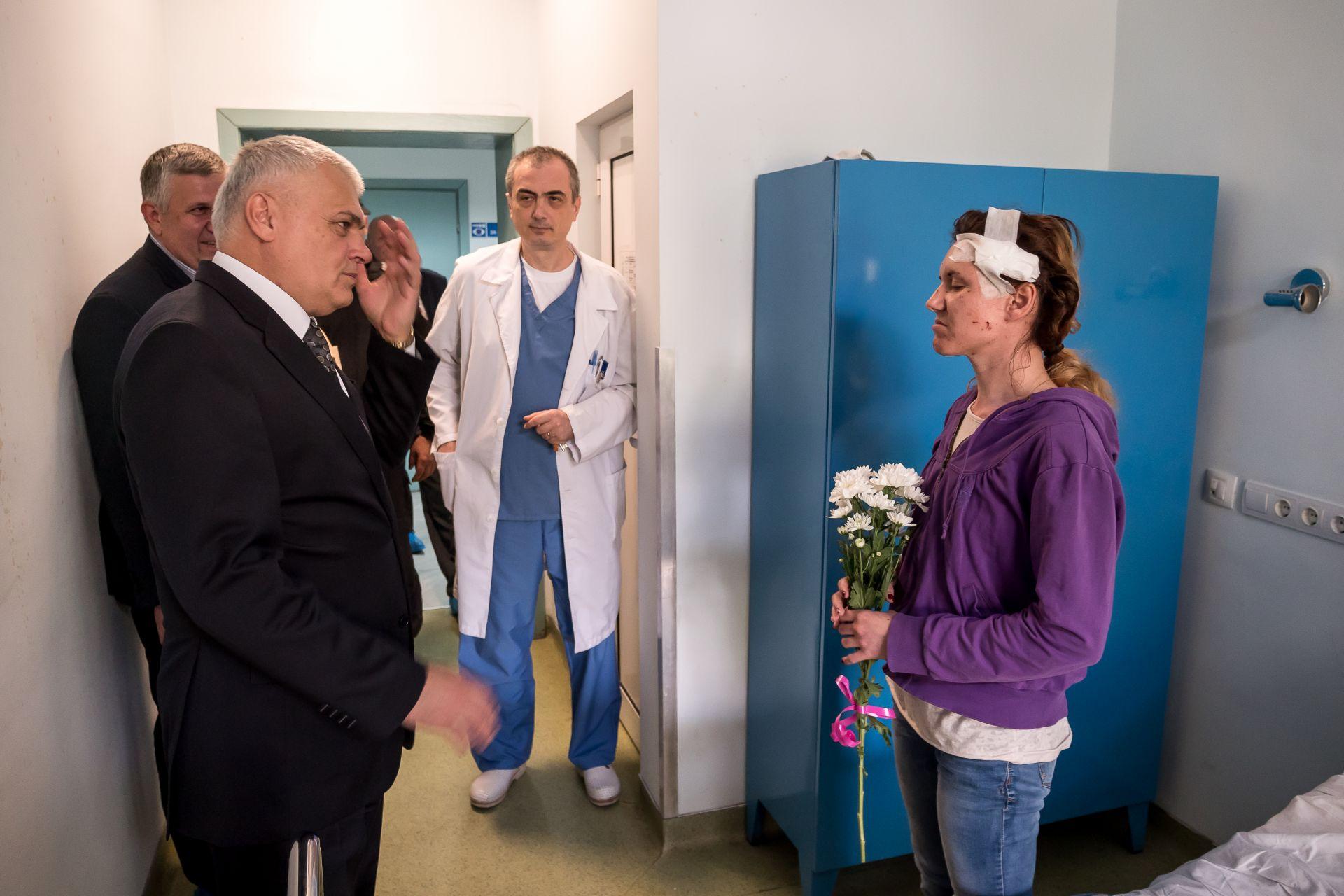 Ранената полицайка Гергана Зашева е настанена в ИСУЛ