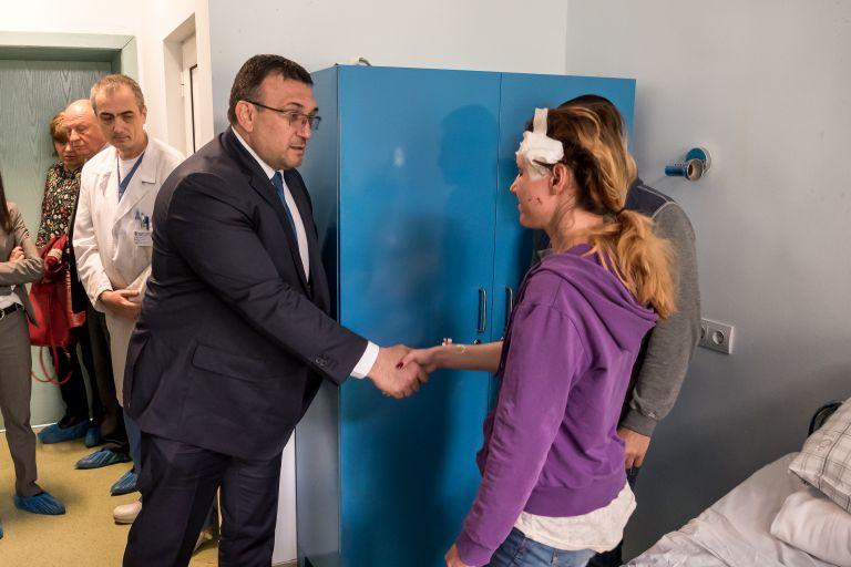 Главният секретар на МВР Младен Маринов също бе при Гергана Зашева