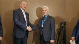 Волен Сидеров се срещна с главата на Крим в Ялта