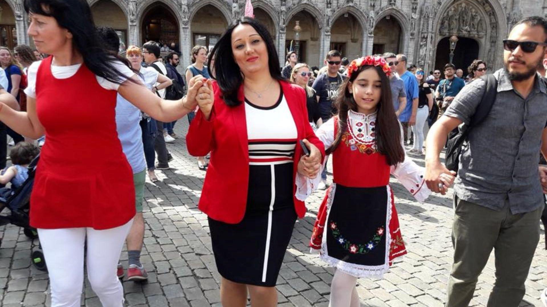 Павлова се хвана на Голямото българско хоро в Брюксел