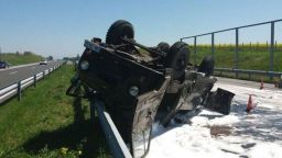 "Военни катастрофираха на магистрала ""Тракия"""