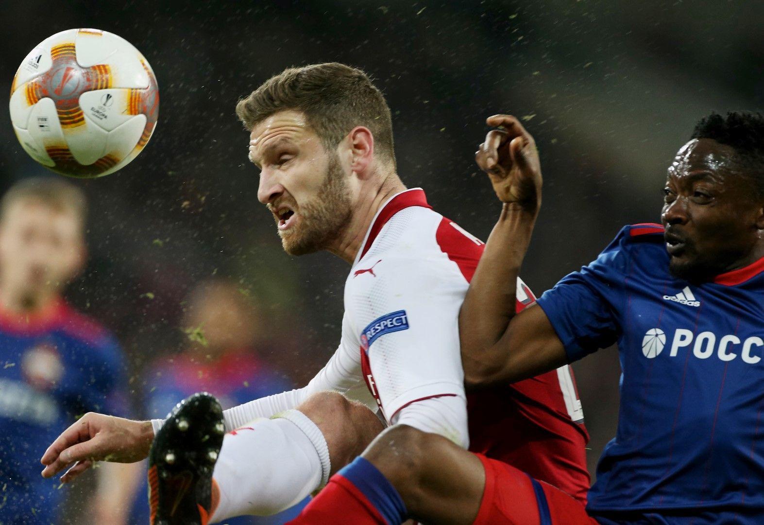"""Шкодран Мустафи не иска да остава в """"Арсенал"""", ако се вярва на английските медии. Снимка: Getty Images"""