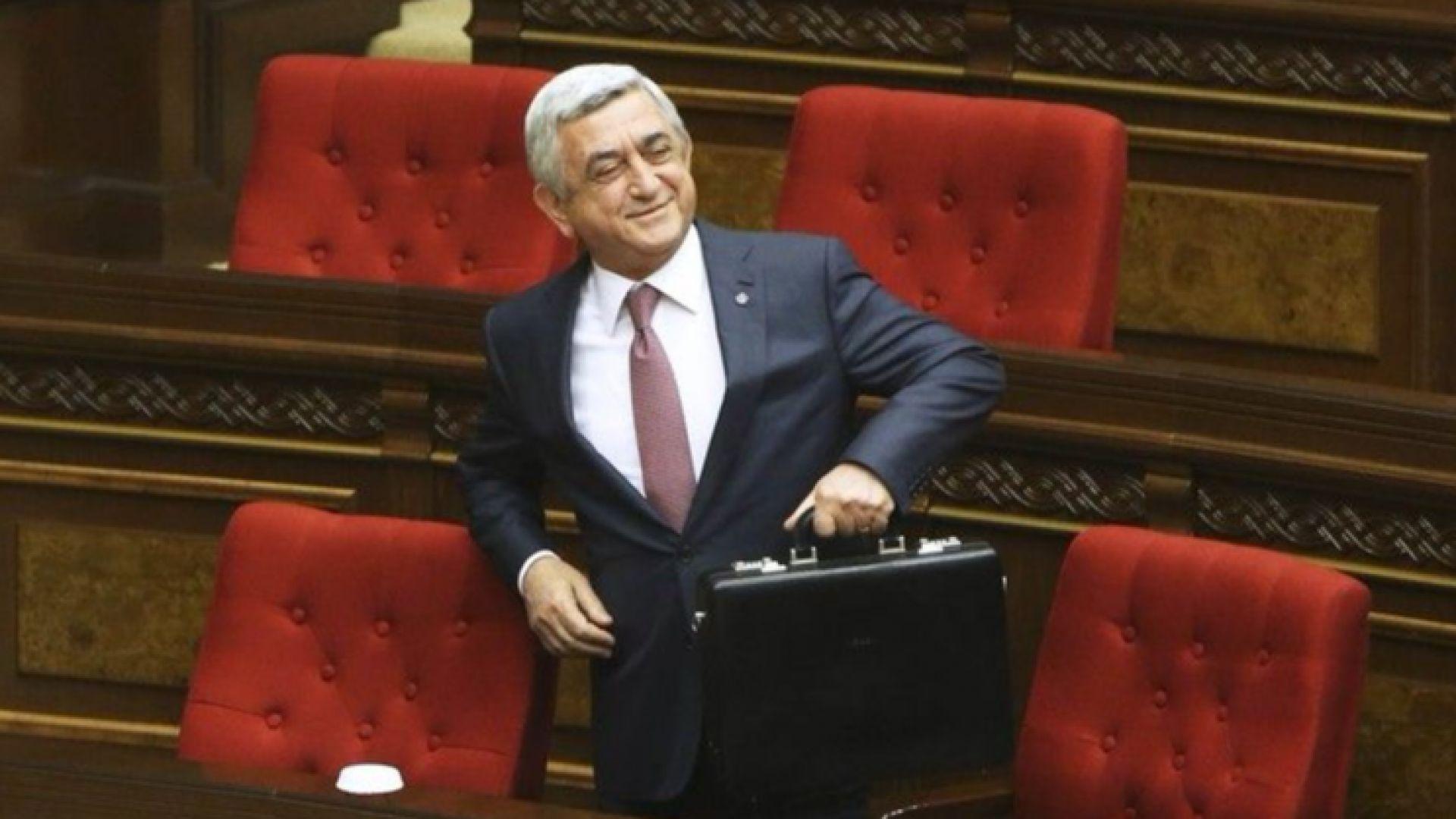 Кризата в Армения приключи, премиерът Саркисян подаде оставка