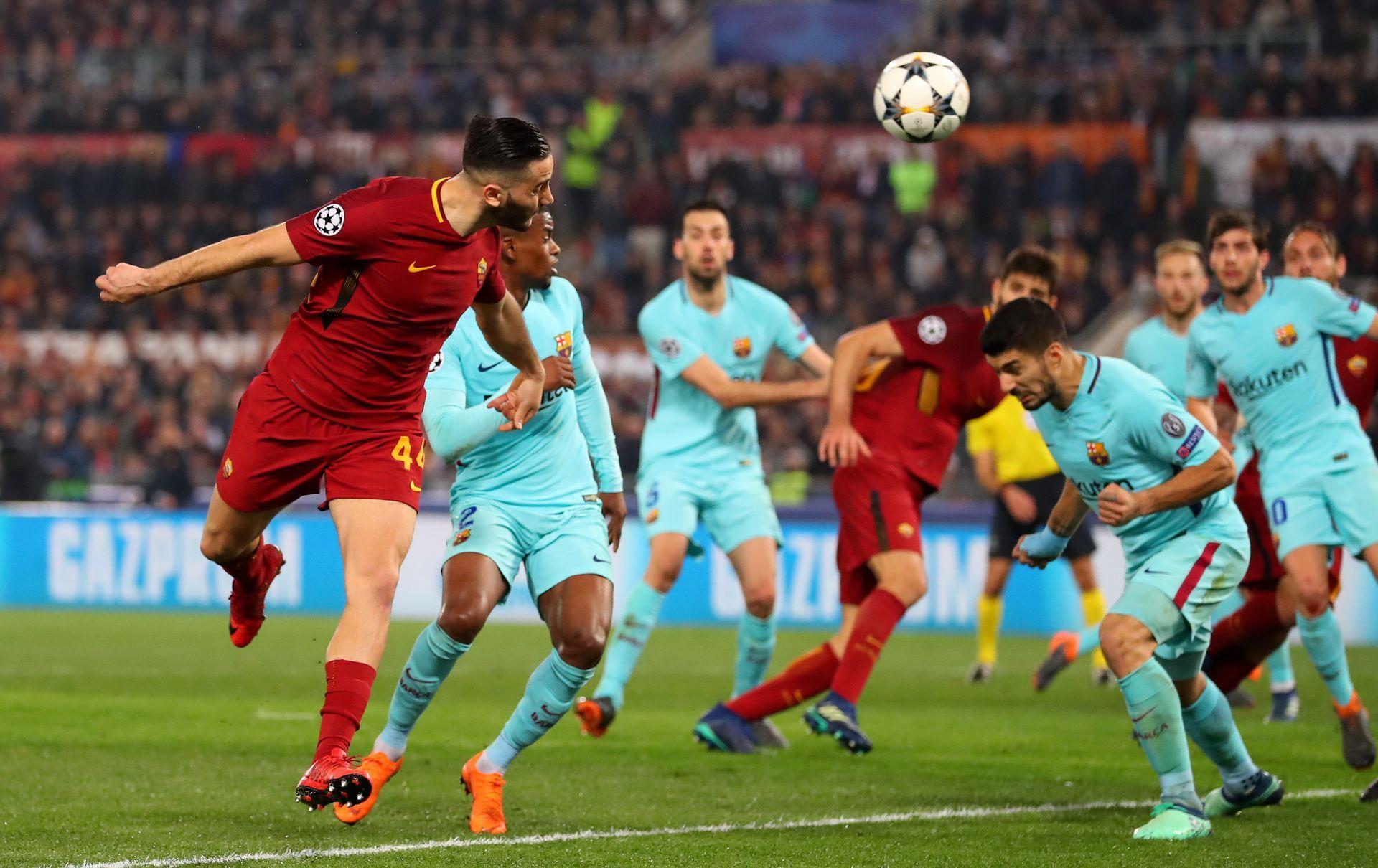"""""""Рома"""" по същото време се разправяше с """"Барселона"""". Костас Манолас вкара гола на триумфа. Снимка: Getty Images"""