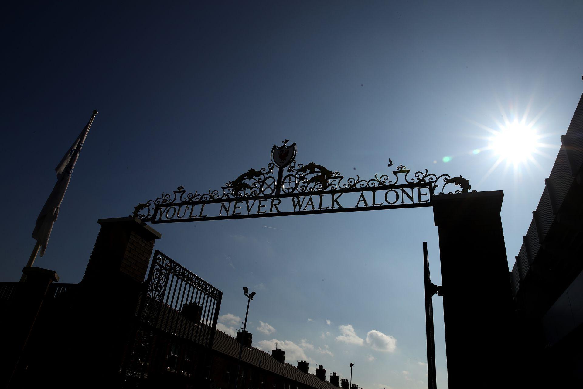 """Стадионът е готов да десетия полуфинал в турнира на шампионите, който """"Ливърпул"""" достига. Снимка: Getty Images"""