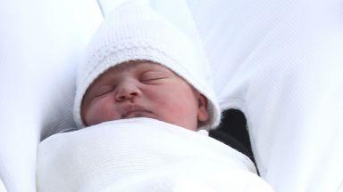 Катрин показа новородения принц