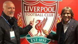 """Скандал на """"Анфийлд"""", легенди на """"Рома"""" показаха среден пръст на """"Ливърпул"""""""