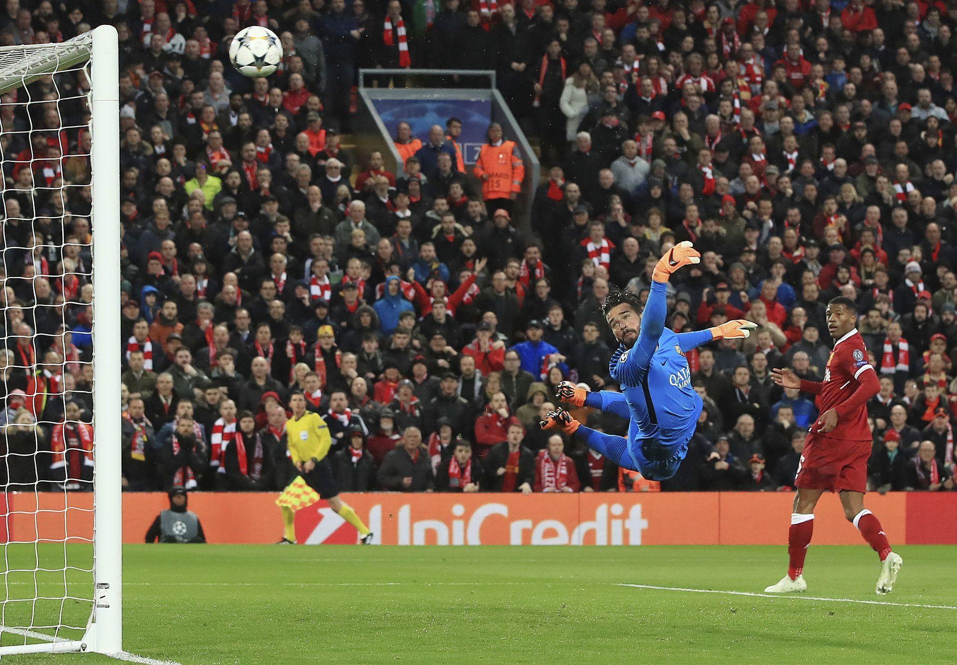 Салах вкарва изключителния си първи гол.  Снимка: БТА
