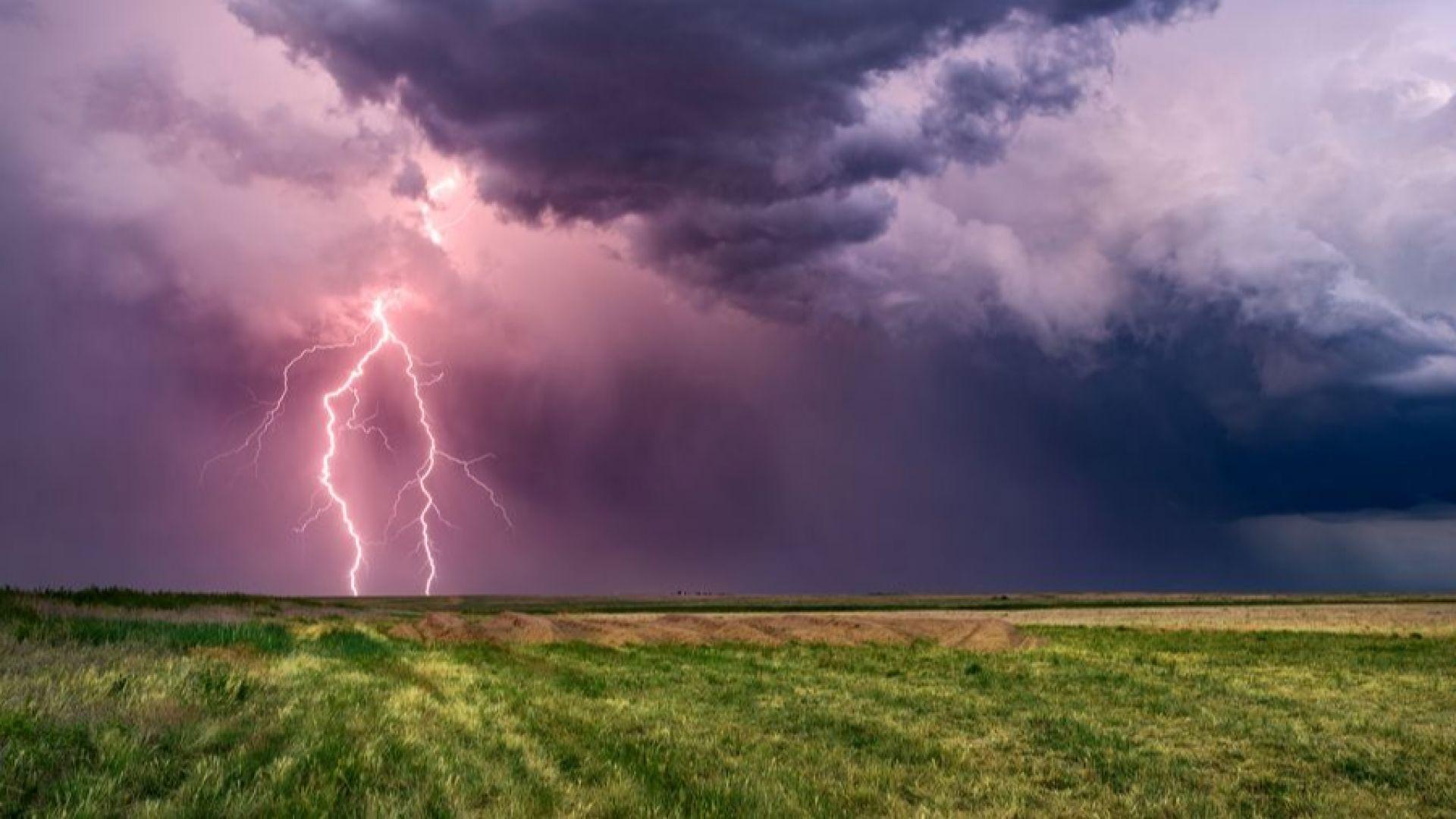 Гръмотевични бури и градушки идват над цялата страна