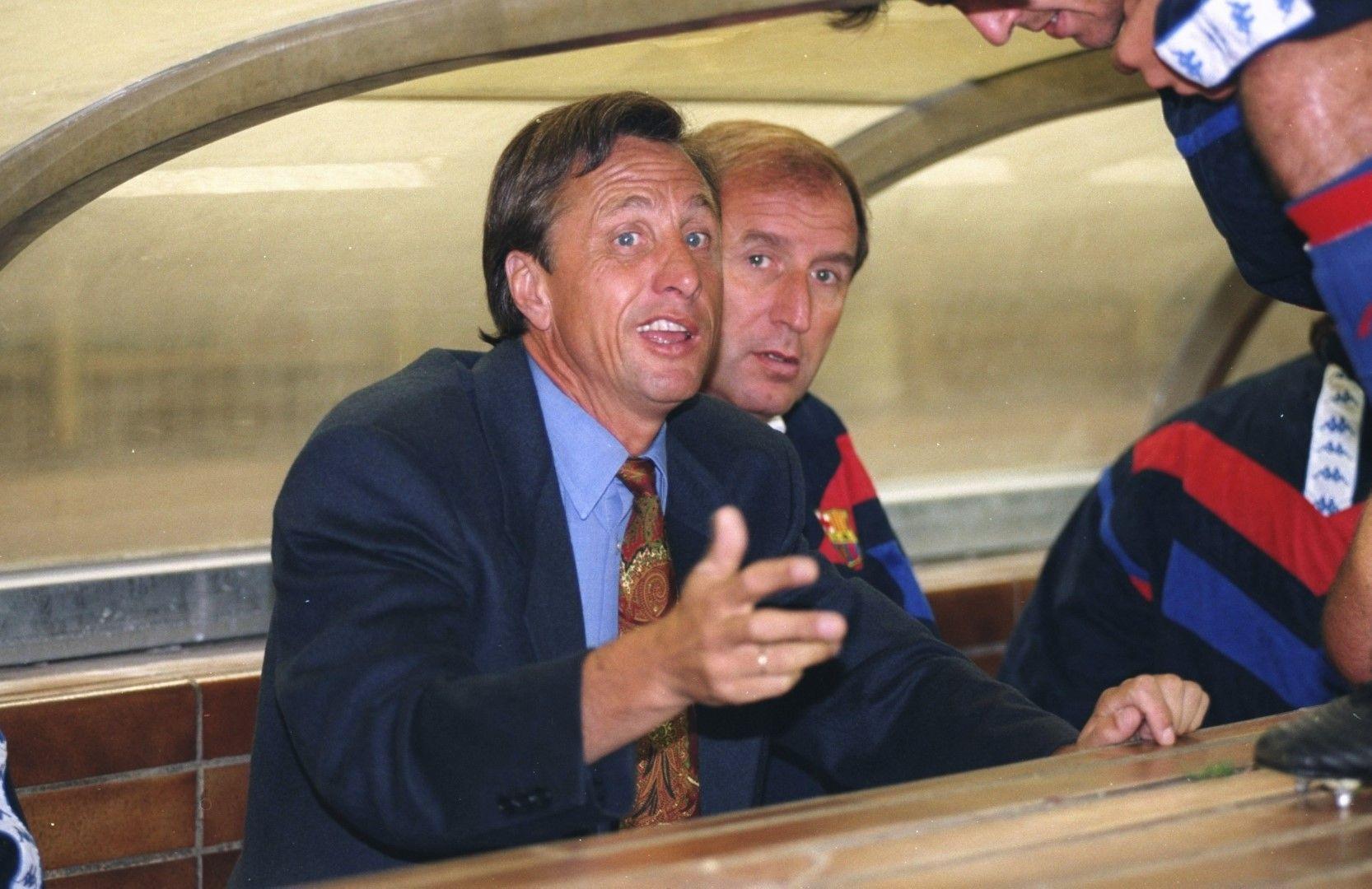"""Като треньор на """"Барселона"""", където наложи философията си и превърна клуба в гранд. Снимка Getty Images"""