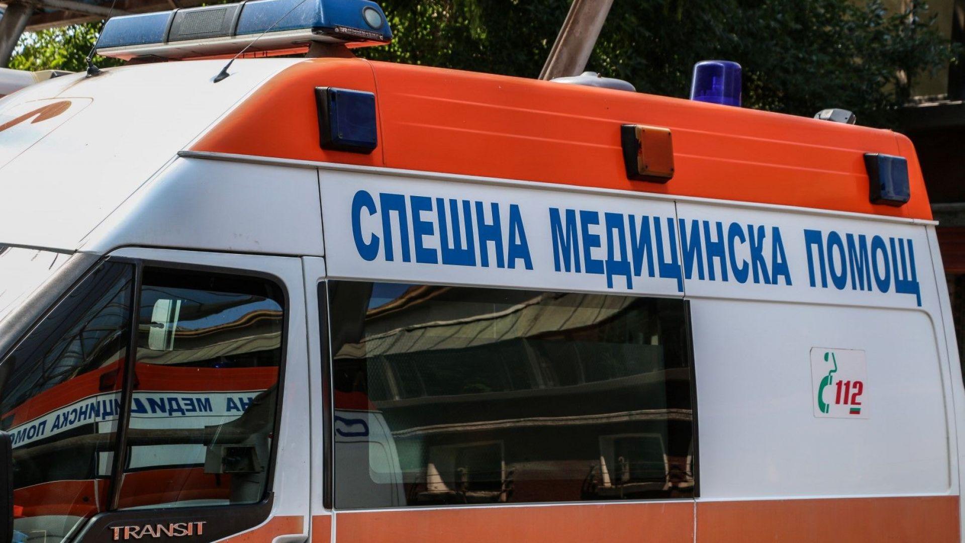 Млада жена е ранена при челен удар на бус и кола
