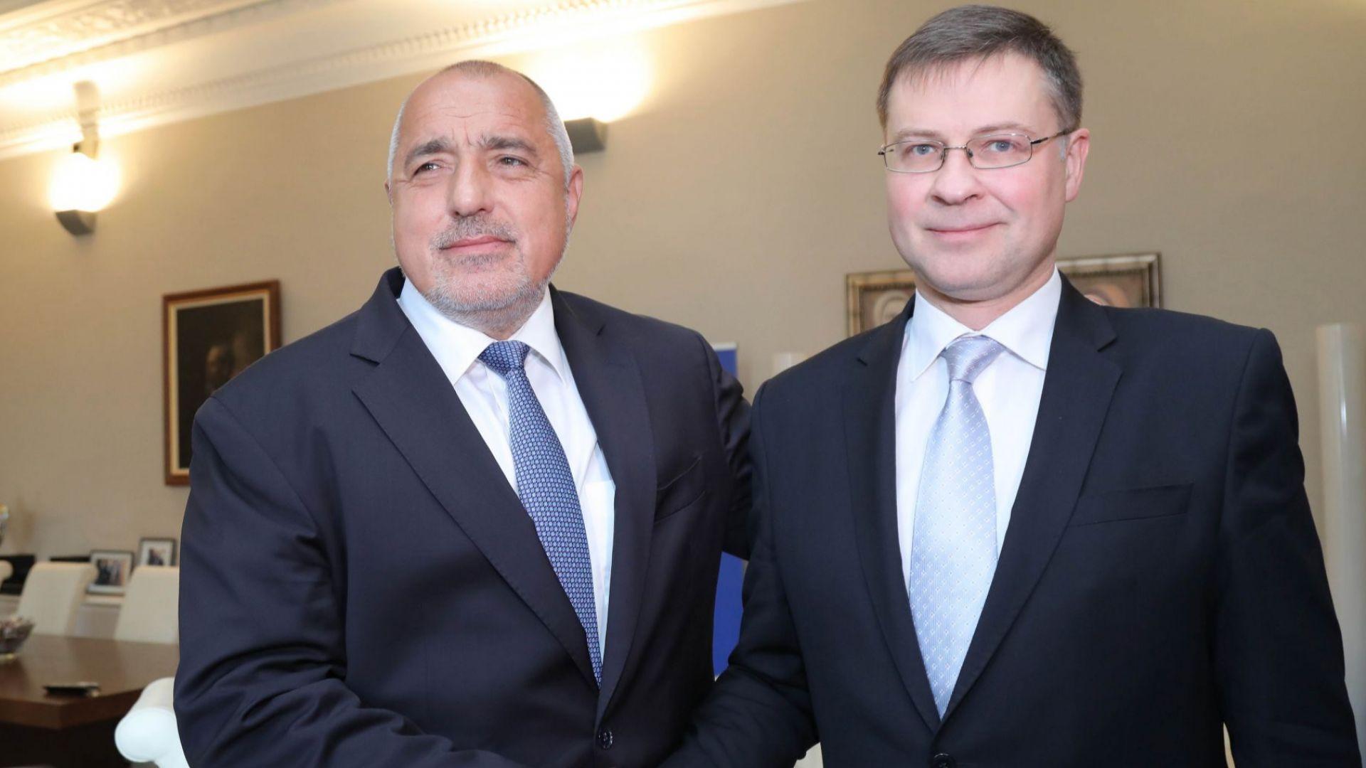 Борисов отчете пред Домбровскис готовността за еврозоната