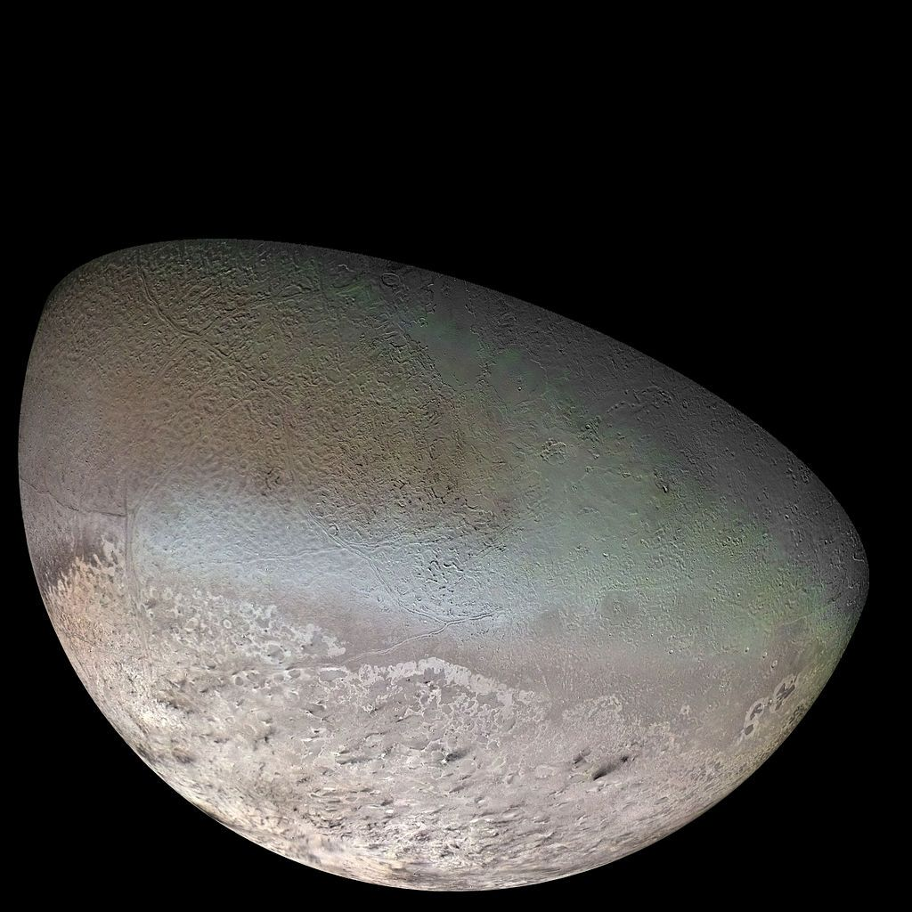 Тритон заснет от апарата Вояджър 2 по време на прехода му през нептуновата система през 1989