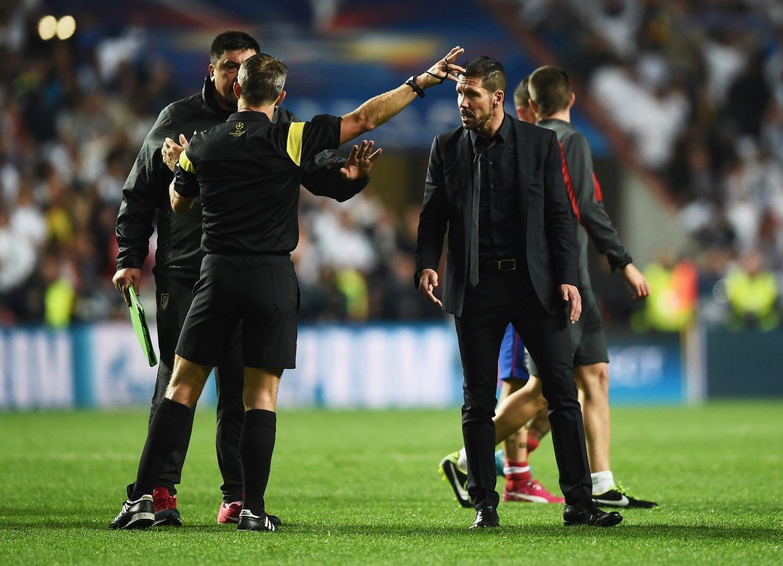 На финала в Шампионската лига през 2014 г. двамата искаха да бият рефера Бьорн Кайперс. Снимка: Getty Images