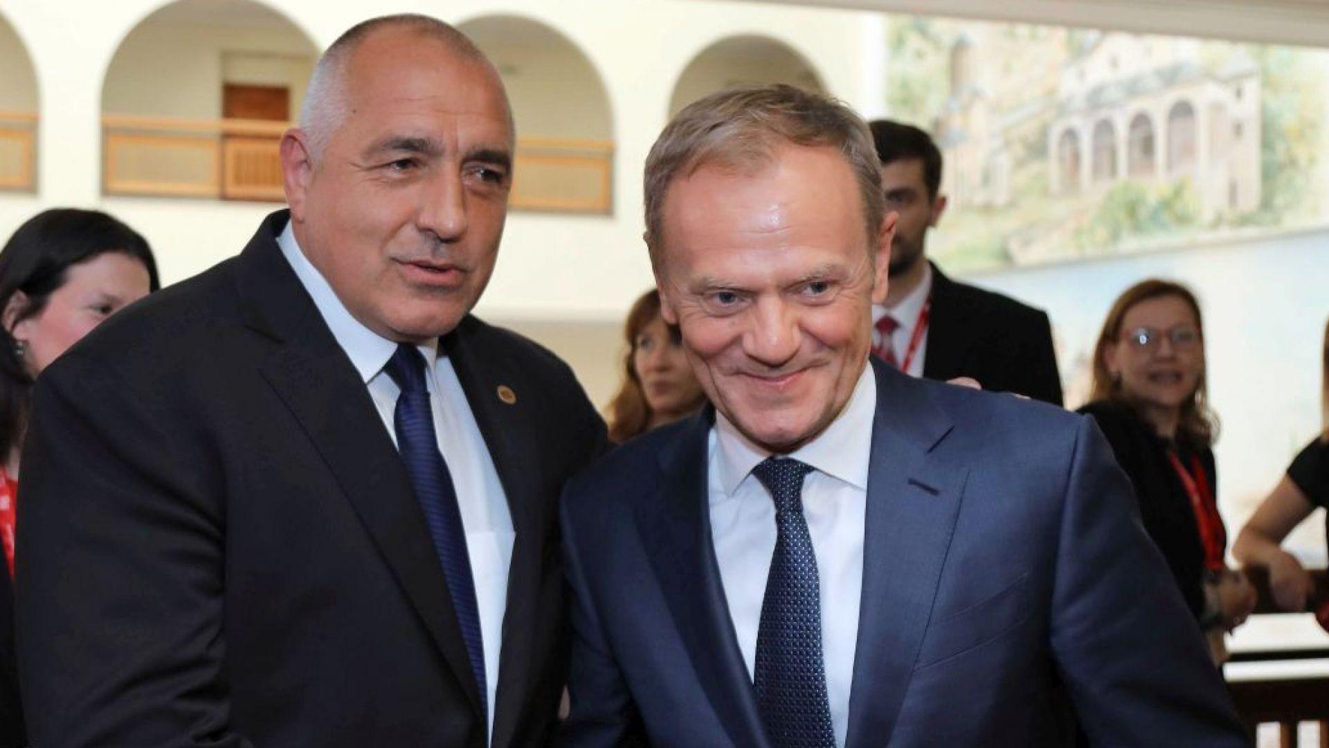 Борисов към Туск: Не съм очаквал, че ще обикаляш Балканите