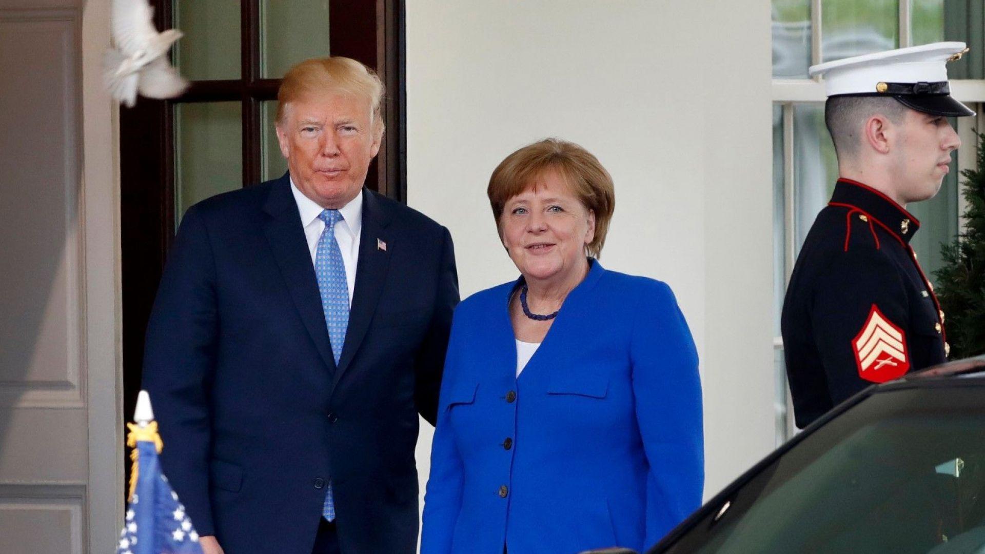 Как Меркел промени стратегията си спрямо Тръмп
