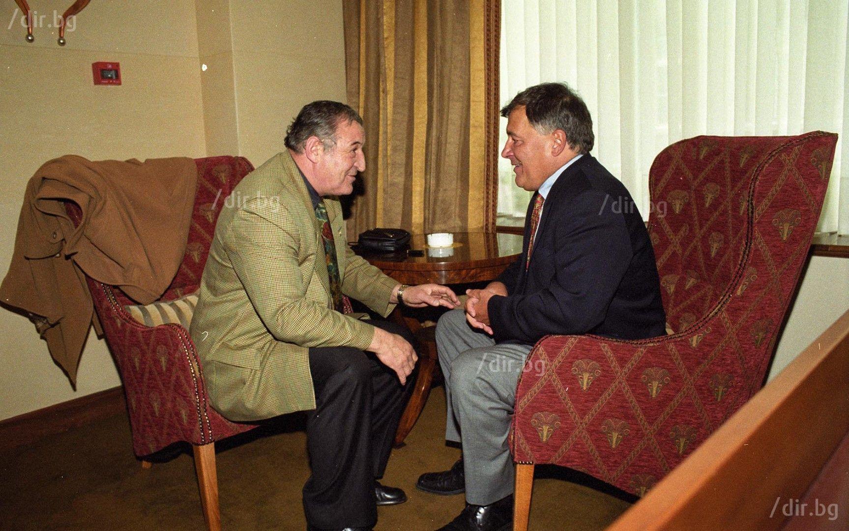 С Димитър Пенев, голям приятел и съратник. Снимка: ИВАН ГРИГОРОВ