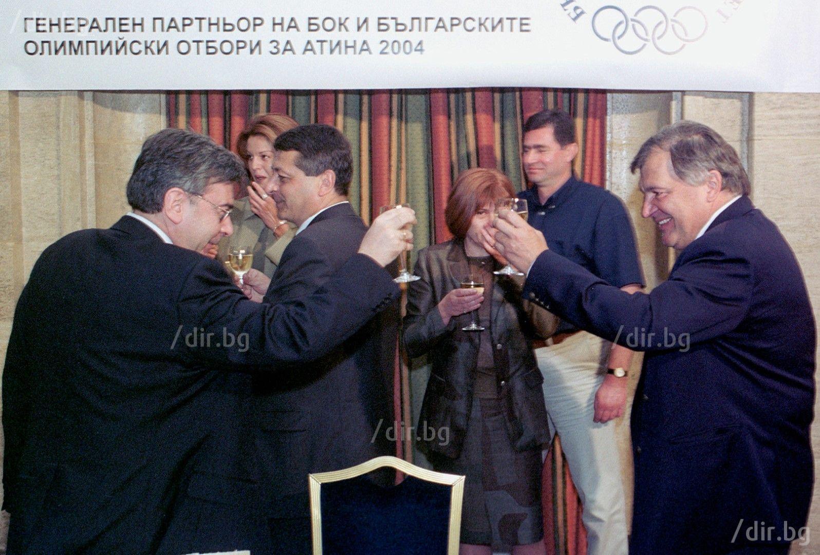 Поредното събитие, на което на Славков не му е скучно. Снимка: ИВАН ГРИГОРОВ