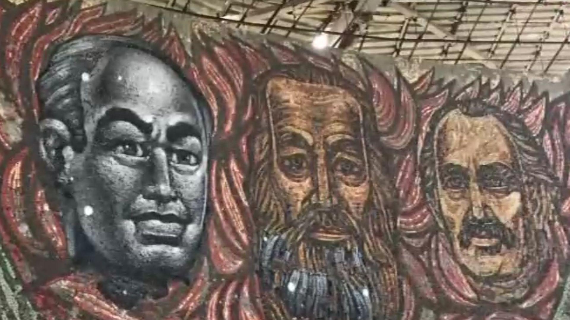 Неизвестен художник възстанови лика на Тодор Живков на Бузлуджа